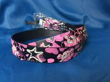 Women's Fashionable Black Leather Belt with Skulls and glowing Stars
