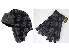 John Lewis Boys Navy Chunky Knit Gloves Set Age 5-7 Brand New