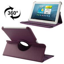 Samsung Galaxy Tab 2 10.1 Luxus Kunst-Leder Tasche Hülle Case Lila P5100 P5110