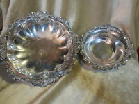 Wallace  Baroque Silver Plate Vegetable Serving Bowl 8 3/4 Round Footed #201.