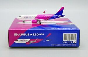 JC Wings 1:400 Wizz Air Airbus A320-200 NEO HA-LJA Diecast Model Aircraft