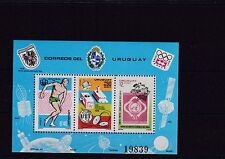 Uruguay Bl.30** UPU OLYMPIA MONTREAL OLYMPIC DISKUS INTELSAT SATELLIT UIT SPORT