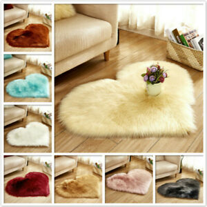 Heart-shaped Carpet Faux Suede Fluffy Rug Upholstery Living Room Decor Area Rug