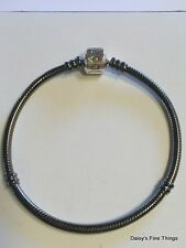 NEW! AUTHENTIC PANDORA BRACELET BARREL CLASP OXIDIZED 590702OX-19 19cm/7.5IN   P