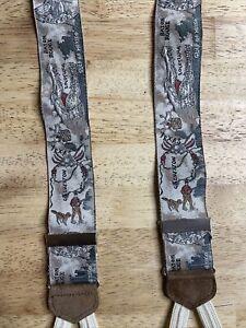 "Trafalgar ""Hunting"" Silk Leather Galveston Texas Gulf Mexico Suspenders"