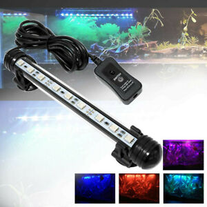 LED Fish Tank Lighting Air Bubble Aquarium Submersible RGB Remote Color Changing
