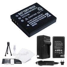 DMW-BCE10 Battery+Charger+BONUS for Panasonic Lumix DMC-FS3 FS5 FS20 FX30 FX33