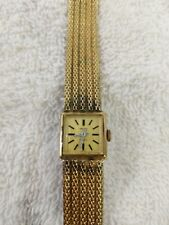 Vintage Gruen Gold Colored Women's Motion Charged Watch D4