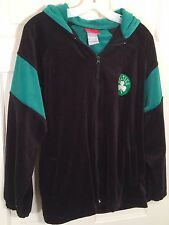 Boston Celtics Mens Reebok Black Velvet Like Hooded Jacket Size XL #MJ-58