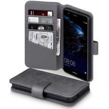 Fundas y carcasas color principal gris de piel para teléfonos móviles y PDAs Huawei