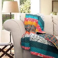 Lush Decor Boho Stripe Throw Blanket, 60 x 50, Turquoise/Tangerine