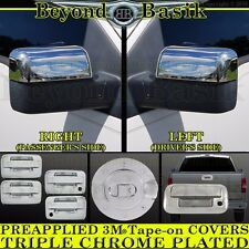 2004-2014 FORD F150 Chrome Door Handle(2k,noKP)+Gas Door+MirrorH+Tailgate Covers