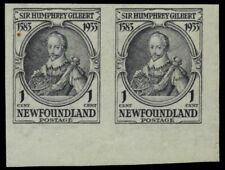 "NEWFOUNDLAND 212a - Sir Humphrey Gilbert ""Imperf Pair"" (pb17313) $60"