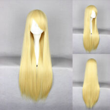 Ladieshair Cosplay Wig Perücke goldblond 80cm glatt Karneval Halloween GTC