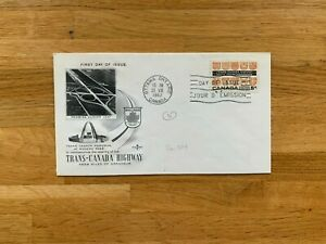 CANADA 1962 FDC ROSE CRAFT TRANS-CANADA HIGHWAY ROGERS PASS