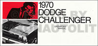 1970 Dodge Challenger Owners Manual 70 Owner Operators Guide Book