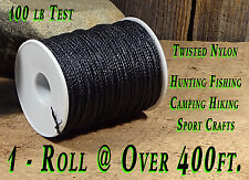 1- Roll 100 lb Test Seine Twisted Nylon Twine/String Bank Line Over 400 ft total