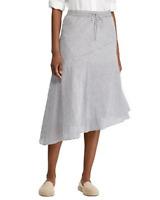 Lauren Ralph Lauren Striped Asymmetric-Hem Skirt MSRP $115 Size 14 # 19A 127 NEW