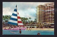 c1954 Nani Li'i Catamaran at Hilton Hawaiian Village Hotel Hawaii postcard