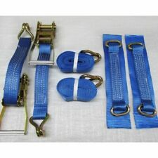 2 x 50mm x  6M RATCHET TIE DOWN RECOVERY WHEEL STRAPS trailer truck