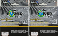 (Lot Of 2) Power Pro Super8Slick 300Yds Braided 15Lb Line Timber Brown L3407