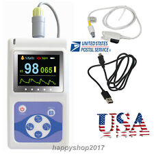 24h Finger Pulse Oximeter Sleep Spo2 Recorder Heart Rate Blood Oxygen Monitor Pc