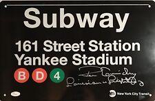"Ron Guidry ""Louisiana Lightning"" New York Yankees Autographed Subway Sign w/ JSA"