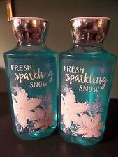 2 Bath & Body Works FRESH SPARKLING SNOW Shea & Vitamin E Shower Gels NEW