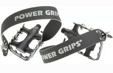 "Power Grips Sport Pedals Strap Combo Aluminum 9/16"" Black Biking Cycling NEW"