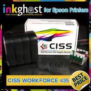 Ink System CISS compatible with Epson Workforce 435 133 138 Continuous Ink CIS
