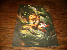 1995 Ken Kelly Colossal Cards FPG #26 Battle's End Nice Condition Oversized 6x10