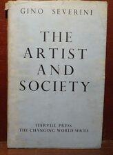 Gino Severini, The artist and society 1946 Harvill 1a ed. arte in inglese