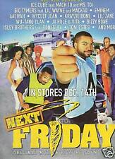 NEXT FRIDAY Rap Music Movie Soundtrak 1999 POSTER AD