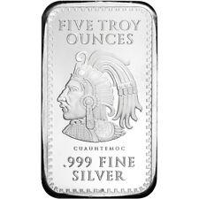5-20  Gram 999 Fine Silver Bars Uncirculated Monarch Statue of Liberty
