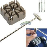New 5 Pcs Watch Repair Tool Kit Band Pin Link Remover Hammer Strap Holder 3 Pins