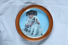 Penni Anne Cross Limited Edition Collectors Plate Paiute Pals In Wood Frame