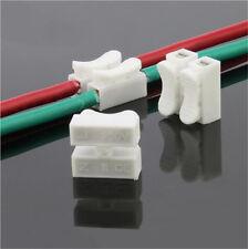 30X Elektrische Verbindungsklemmen Steckklemmen Spleiß Lock Drahtklemmen 2 polig