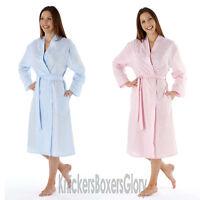 Ladies Seersucker Dressing Gown/Robe/Kimono/Wrap Blue Pink Size 10 - 24 NEW