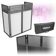 Foldable Mobile DJ Booth Deck Stand Screen Facade Mixer Laptop DJ Equipment Desk