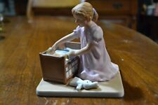 Little Mother Painted Numbered Ceramic Figurine Inspired By Norman Rockwell Art