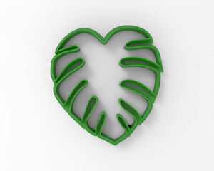Monstera leaf (small) Cookie and Fondant cutter 30205 ( Leaves cake decoration )