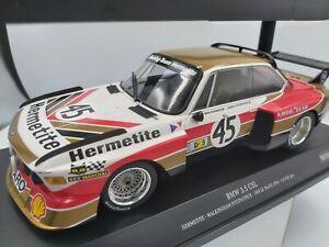 Minichamps 1/18 BMW 3.5 CSL #45 24h Lemans 1976 LTD 402 pcs NEW!!