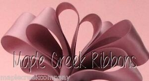 """5yd of Rosy Mauve 1/4"""" Double Face Satin Ribbon 1/4"""" x 5 yards neatly wound"""