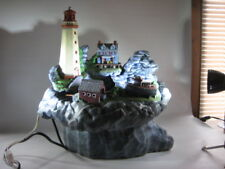Nautical Lighthouse Lighted Fountain 7 PC Hand Painted Tampa Bay Mold Stunning