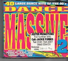 (EV432) Dance Massive 2, 40 tracks various artists - 1997 double CD