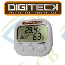 LCD Digital Digi Temp Habitación Termómetro Reloj C/F Nueva