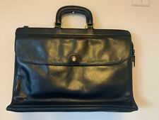 Vtg Gold Pfeil Executive Leather Briefcase Attache Black Germany