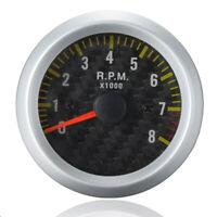 CONTAGIRI DIAMETRO 52MM NERO PER AUTO TACHIMETRO RPM RACE SPORT