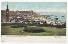 Marine Parade Showing Clock Tower Margate Kent 1903 Postcard 857b