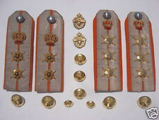GREECE GREEK ROYAL ARMY ECONOMY SERVICE CORPS COLONEL LOT (4) EPAULETTES BUTTONS